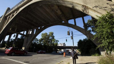 Archways are part of the half-mile Western Hills Viaduct on both the east and west ends of the bridge, which was built in 1932 as the Gateway to the West Side.