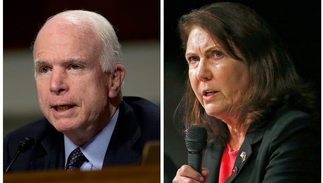Sen. John McCain and Rep. Ann Kirkpatrick.