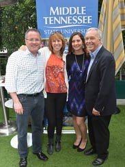 MTSU alum Pete Fisher (left), general manager of the