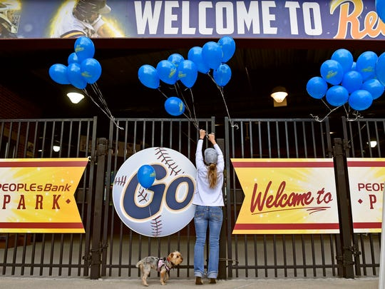 York Revolution ticketing director Cindy Brown arranges