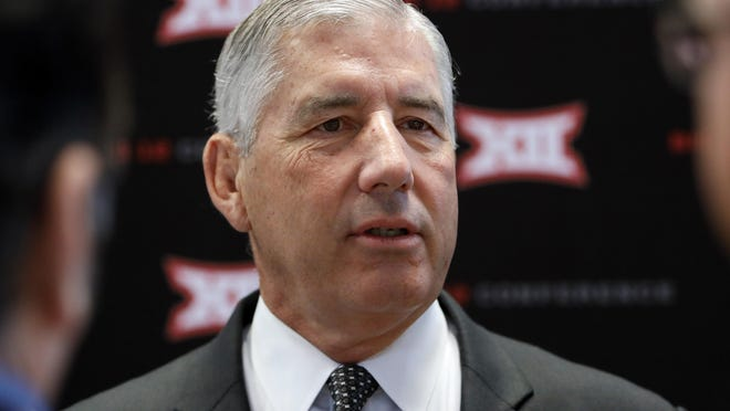 Big 12 commissioner Bob Bowlsby's conference announced a revised schedule Aug. 12 that has each team playing a 10-game schedule: the usual nine conference opponents preceded by one non-conference  game at home.