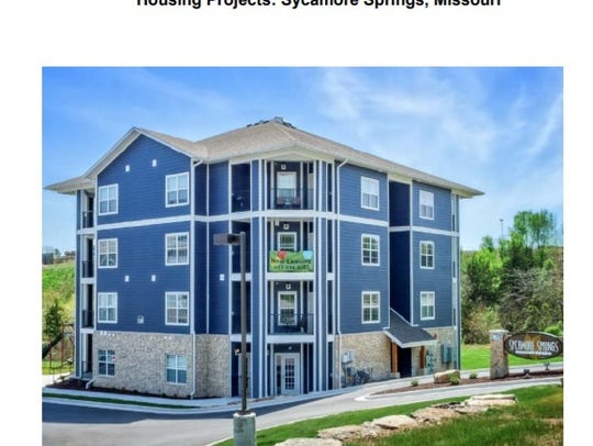 This rendering of a development in Sycamore Springs,