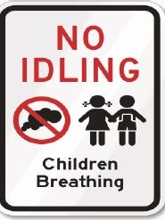 A no idling sign