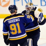 Vladimir Tarasenko, Carter Hutton lead Blues over Rangers with 3-2 victory