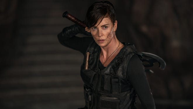 "Charlize Theron as ""Andy"" in ""The Old Guard."""