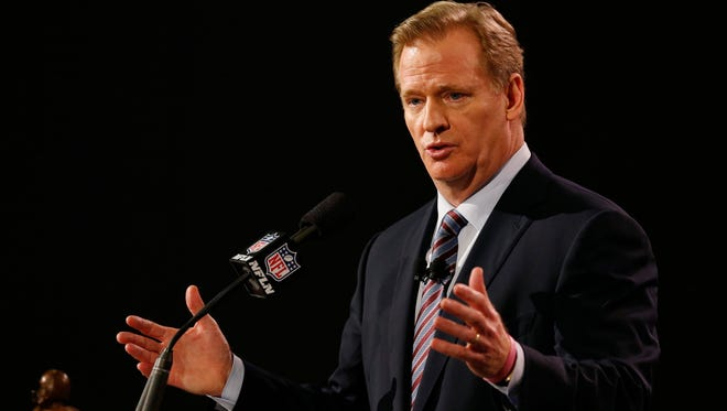NFL Commissioner Roger Goodell said the Greg Hardy case is an example of how the NFL can be a vehicle for change.