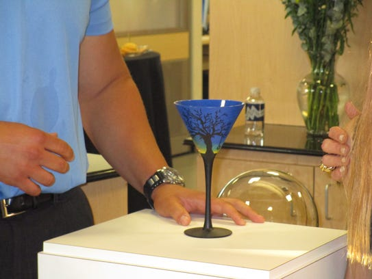 The official Absolut Best Martini glass is designed
