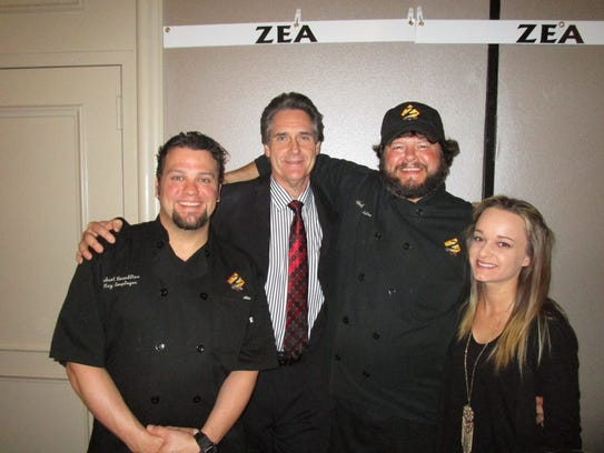 The team from Zea's at he ASO's  Death by Chocolate