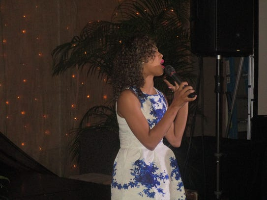 "Briana Babineaux sings ""I'll Be the One"" at the Village"