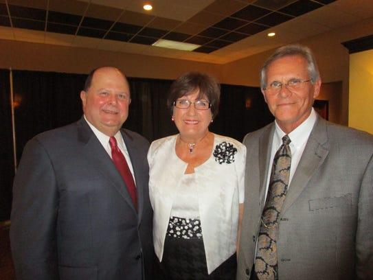 Jim Roy, Kathleen Blanco and Keith Stutes