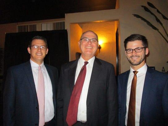 Austin Hebert, Pat Trahan and Edward Bienvenu