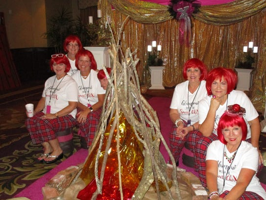 The Krewe of Xanadu hels a glampout to honor royalty