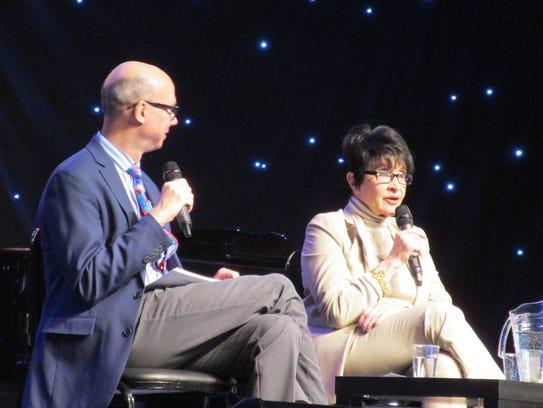 Chita Rivera speaks with Richard Ridge during BroadwayCon