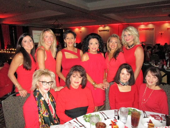 The American Heart ASsociation's Go Red For Women luncheon