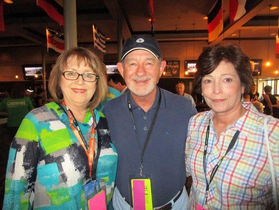 Cathy Webre, Brett and Donna Mellington