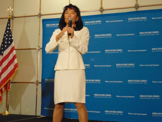 """Jade Wu, author of """"Flash Points,"""" speaks at World"""