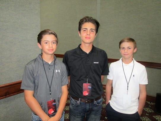 Conner Kleinpeter, Reid Godchaux and Julien Guy