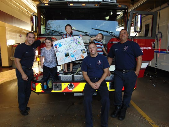 On Monday, Sept. 25, three boys thanked Sterling Heights