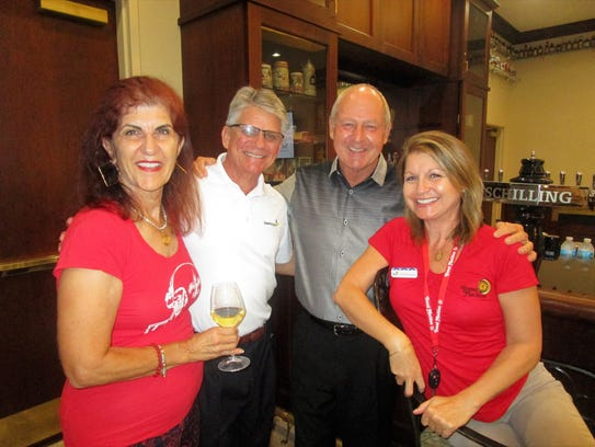 Julie Calzone, Frank Malambri, Mike Grimsley and Cat