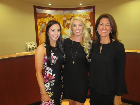 Megan Stelly, Sara Hart and Claudia Zale