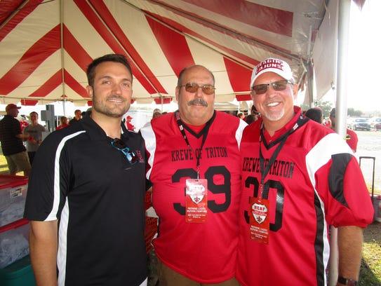 Bobby Brignac, William Ritchey and Sam Landers