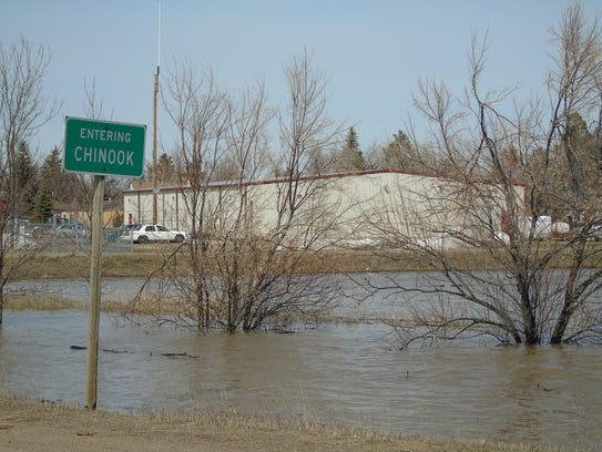 South of Chinook saw flooding