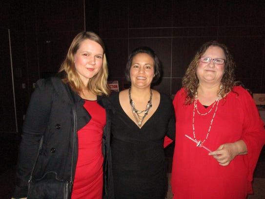 Harmony Decker, Billi Lacombe and Agnes Hebert
