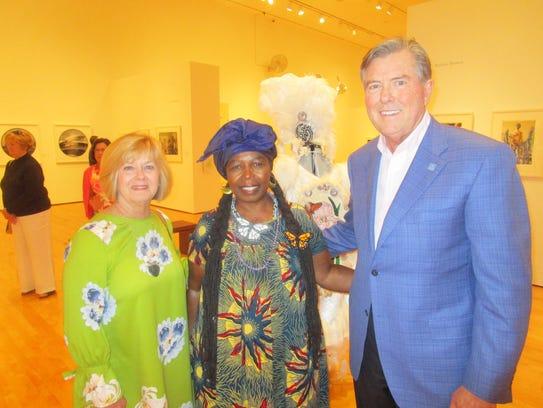 Tracy Neuner, Rukiya Brown and Frank Neuner  at the Hilliard University Art Museum.