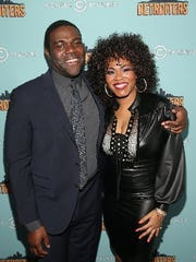 Sam Richardson and Shawntay Dalon of Comedy Central's 'Detroiters' at a premiere party in West Hollywood, California.