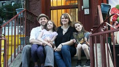 Dan Friedman, Lora LaVon and their daughters, Thalia,