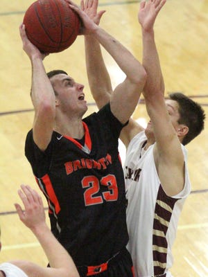 Brighton's Michael Lloyd, shown earlier this season, had 11 points for Brighton in the Bulldogs' 53-51 loss at Walled Lake Central on Tuesday night.