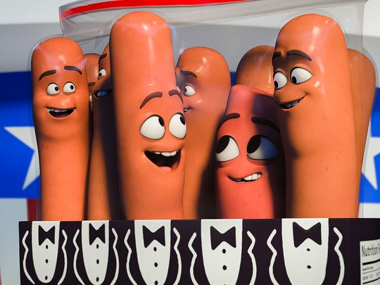 "The hot dogs of ""Sausage Party"" had success at the"