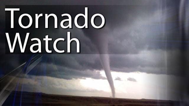 The National Weather Service issued a tornado watch for Larimer County.
