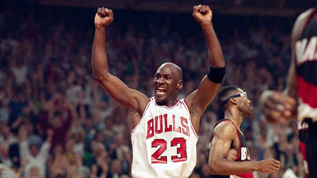 Michael Jordan won six NBA championships with the Chicago Bulls.