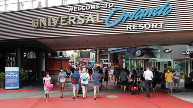 As some of the nation's larger theme parks reopen, such as those run by Universal and Disney, Khabbaza said the biggest risk may come from the travel it takes to reach them. The coronavirus is having a different impact across the country, with some states seeing a decline in infections and others an increase. Otherwise, he said theme parks are at the safer end of the spectrum. Why? Theme parks are universally implementing changes that include social distancing, mandatory face masks and the increased availability of hand sanitizer.