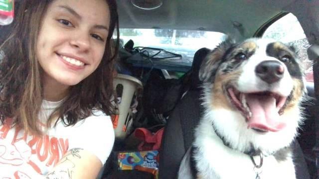 Nineteen-year-old Jade Arriaga is searching for her missing dog Bash.