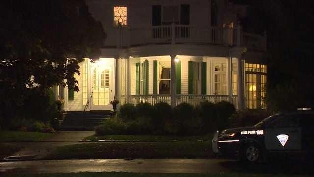 Gov. Charlie Baker's Swampscott home, Tuesday, Oct. 13, 2020.
