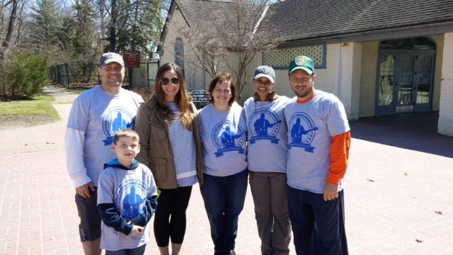 The Walk 'N' Roll Team consists of (from left) Anthony D'Agostino, his son Lucas D'Agostino, Deanna Fooks, Theresa Fooks, Every Breath Counts President Jamila Gaplion and Ron Fooks Jr.