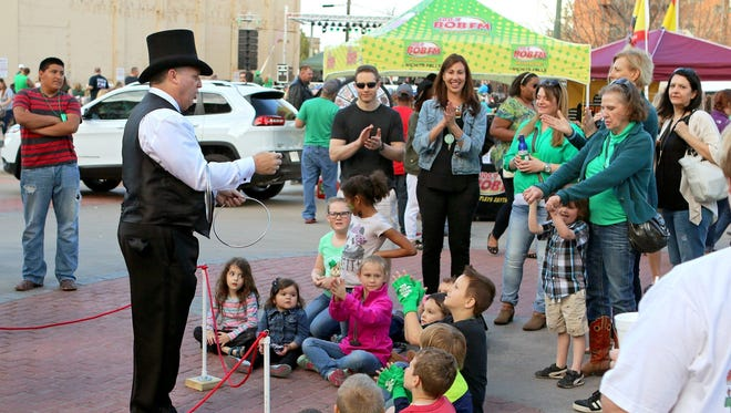 Magic, music and merry mayhem will fill Saturday afternoon and evening at the St. Patrick's Day Downtown Street Festival.