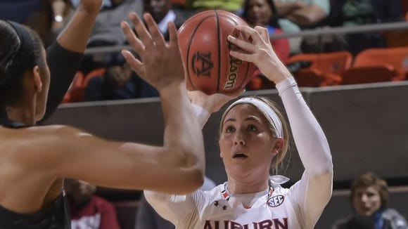 Katie Frerking, shown in an early-January game against South Carolina, helped lead Auburn past Alabama on Sunday.