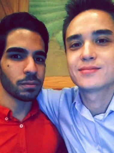 Juan Ramon Guerrero, left, 22, and  Christopher Andrew