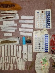 Contraband seized during a shakedown at the Wilkinson