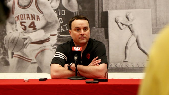 New IU basketball coach Archie Miller met with reporters on Tuesday at Assembly Hall in Bloomington.