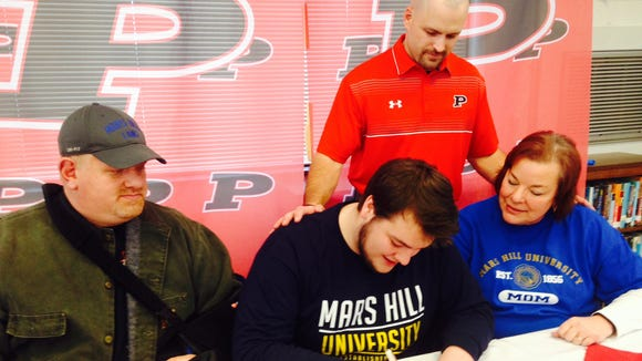 Pisgah senior David Mackey has signed to play college football for Mars Hill.