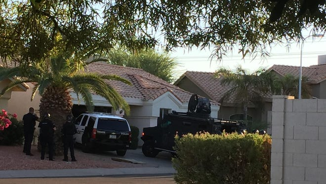Tempe police were in a standoff with a man at his home near 40th Street and Frye Road in Phoenix on Aug. 30, 2016.