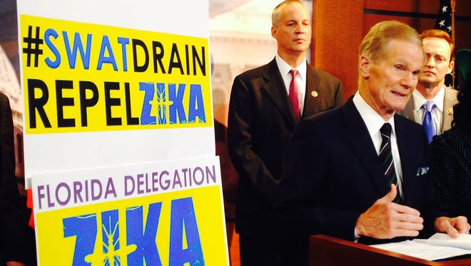U.S. Sen. Bill Nelson, D-Fla., speaks last week during a news conference about combating the Zika virus on Capitol Hill. The Senate reportedly have reached a Zika-funding deal that would give the Obama administration an additional $1.1 billion to pay for vaccine development, mosquito control and testing kits.