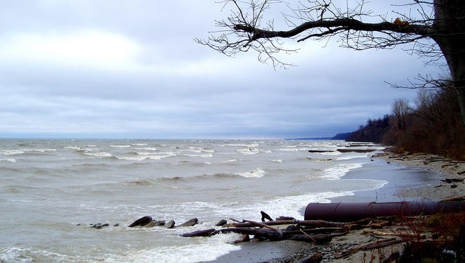 Morning breaks on the shores of Lake Erie.