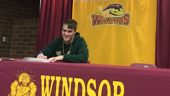 Windsor High School football player Corte Tapia inked his letter of intent to play for CSU next year on National Signing Day on Wednesday.