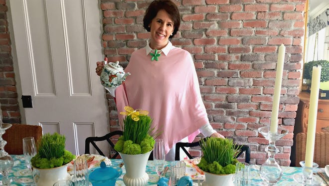 DIY Dutchess Brooke Fedigan offers tips on how to mix and match items for your spring holiday table setting.