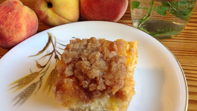 Prize Peach Coffee Cake, made with peaches from the Abilene area in June 2017.